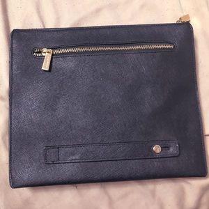 Danier Minimal Leather Black Clutch